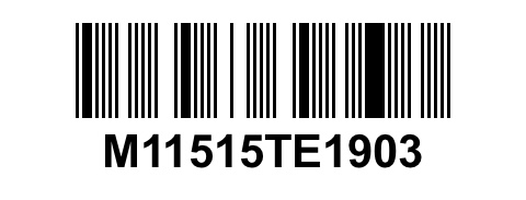 Image of the serial numbers - option 1